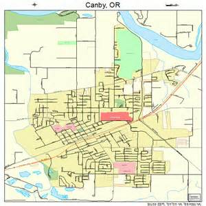 map of canby oregon canby oregon map 4110750