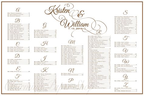 wedding ceremony seating chart template wedding seating chart table seating assignments reception