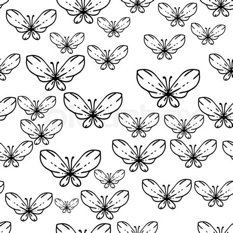 black and white butterfly pattern seamless black and white vector pattern with butterflies