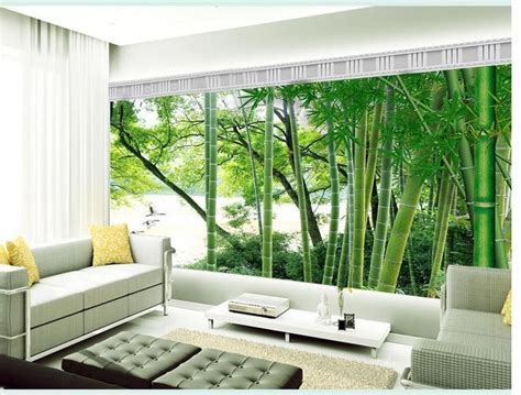 custom photo wallpaper large 3d sofa tv background wallpaper mural wall bamboo forest 3d mural