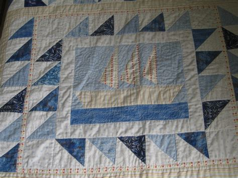 Sail Boat Quilt by Sailboat Quilt Quilts