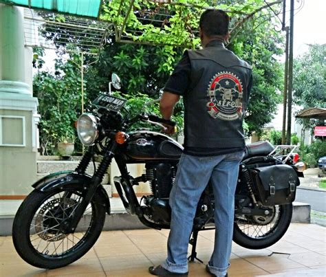 Custom Kulit pesan rompi kulit club motor custom motorcycle club
