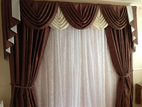 brown swag curtains brown swags tails sets curtains fits 61 quot to 105 quot 155