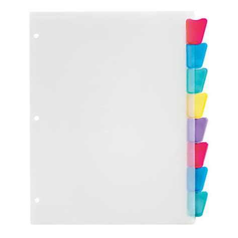 office depot brand plastic dividers with insertable