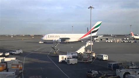 emirates jfk terminal emirates airline airbus a380 800 jfk terminal 4 youtube