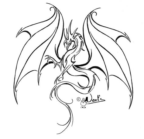free dragon tattoo designs to print best outline design