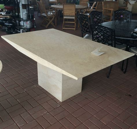 travertine marble dining table actona rectangle travertine marble dining table rrp 163 1289
