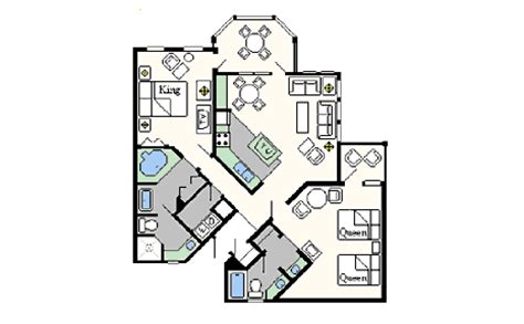 old key west two bedroom villa floor plan old key west resort villas