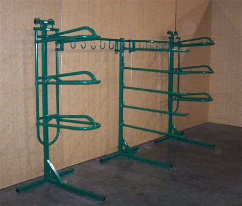 2 saddle racks with stands 5 pad rack 10 bridle