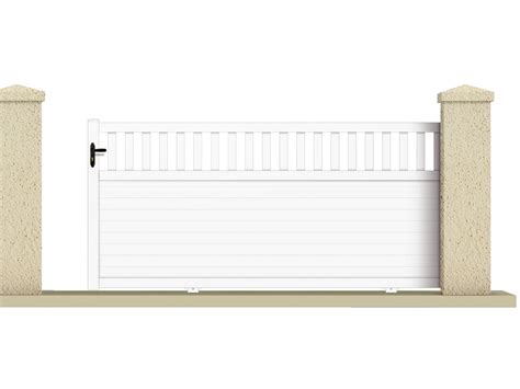 echelle de decoration 1227 portail coulissant quot haumea quot 3 55 m pvc coloris blanc