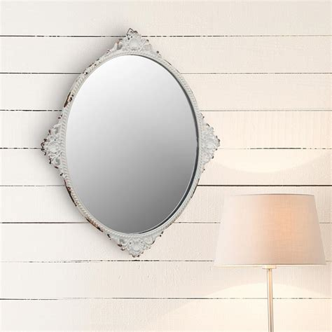 white metal mirror stonebriar collection 12 in x 10 in white metal