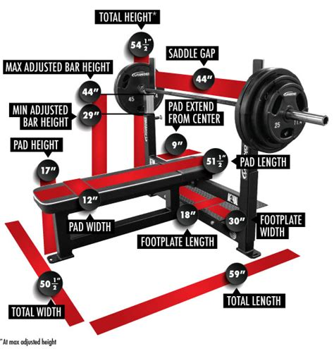 dimensions of bench press competition flat bench press legend fitness
