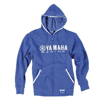 Hoodie Motosport Yamaha factory effex yamaha racing zip hoody motosport