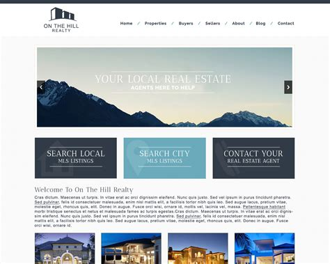 real estate home page design myfavoriteheadache