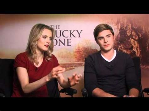 zac efron and taylor schilling the lucky one interview zac efron and taylor schilling interview for the lucky one