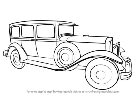 vintage cars drawings learn how to draw a vintage rolls royce vintage by
