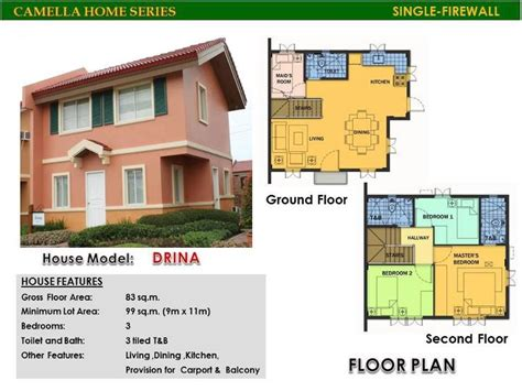 camella homes drina floor plan 28 images camella