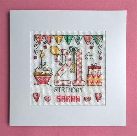 Cross Stitch 70th Birthday Card Kits