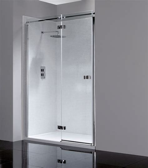 Hinged Shower Doors April Prestige Frameless 1200mm Hinged Shower Door Ap8912l