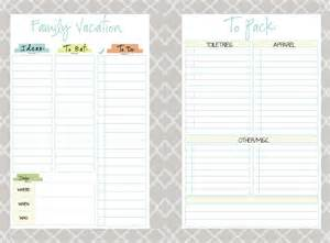 Family Vacation Planner Template Mormon Mom Planners Monthly Planner Weekly Planner