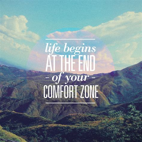 comfortable life great things never came from comfort zones peace love