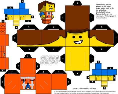 Cubeecraft Papercraft - emmet cubeecraft by jagamen on deviantart