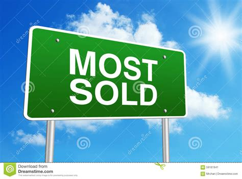 most sold most sold stock photo image 59161941
