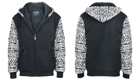 tribal pattern hoodies lee hanton men s tribal pattern hoodie size l groupon