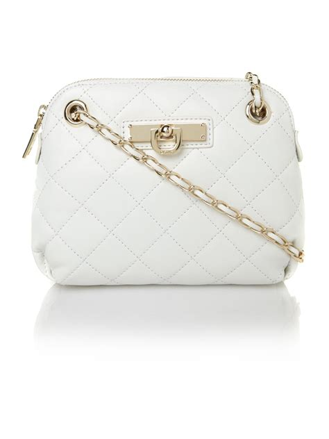Urbanminx White Satchel With Ornate Cross Charms by Dkny Items Quilted White Small Crossbody Bag In White Lyst