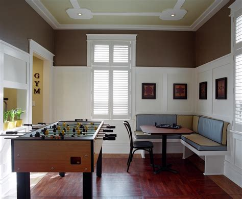 wall and ceiling color combinations game room design family room traditional with painted ceiling white trim