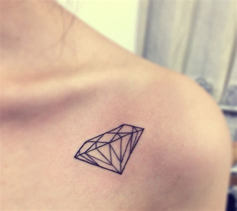 diamonds tattoos 40 collar bone ideas for small