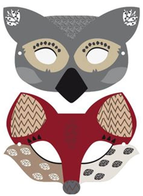 printable animal eye masks felt animal mask printable templates deer mascaras and