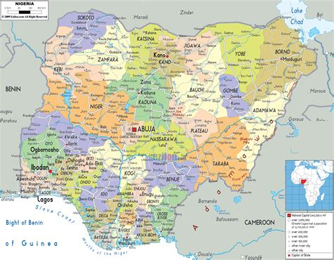 nigeria on a world map maps of nigeria map library maps of the world