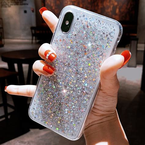 fashion bling glitter phone case  iphone       girl case soft silicon cute