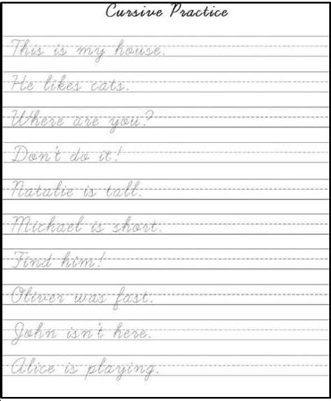 printable practice handwriting sheets printable handwriting practice sheets for preschool