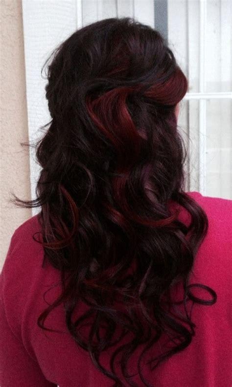 long hairstyles purple highlights long black hair with purple highlights hairstyle ideas