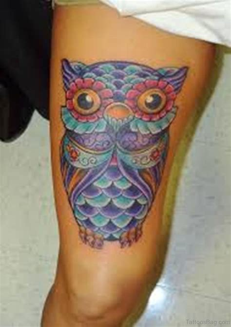 traditional owl tattoo 39 exciting owl tattoos for thigh