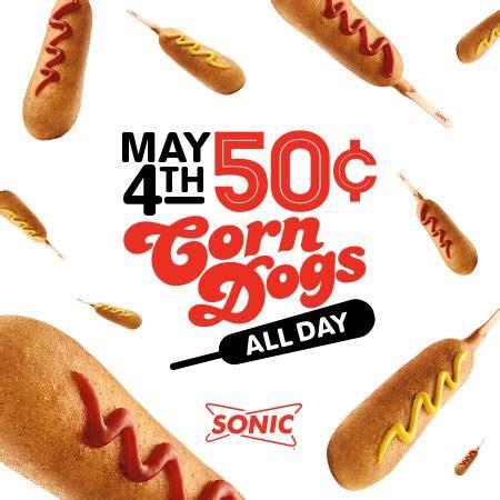 sonic corn dogs enjoy 0 50 corn dogs all day at sonic