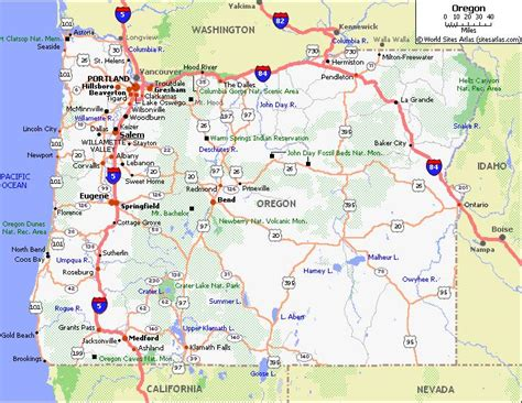 map of oregon major cities oregon road map with cities images