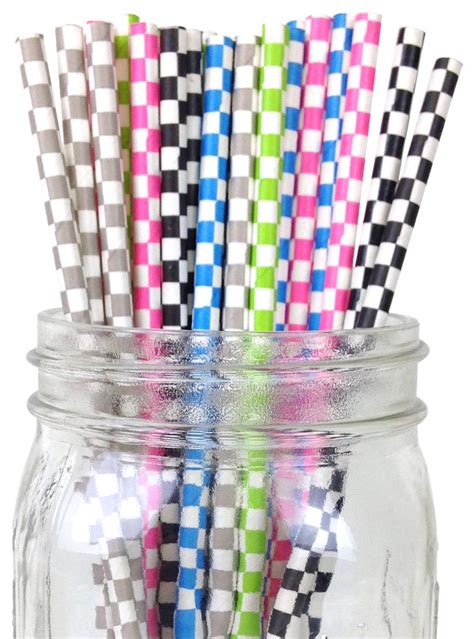 Termurah Balon Dove 100 Pcs Balon Dove 100 Pcs checkered paper straws 100pcs assorted colors