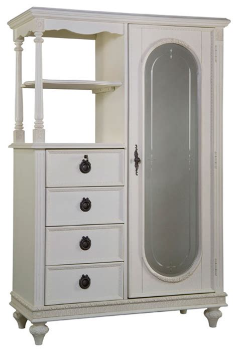 Armoire Dresser With Mirror Emmas Treasures Mirror Chest Armoire Vintage White