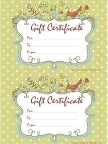 Free Gift Certificate Templates by Free Gift Certificate Template Customizable