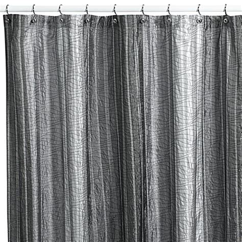 84 shower curtain fabric buy sierra onyx 72 quot x 84 quot fabric shower curtain by manor