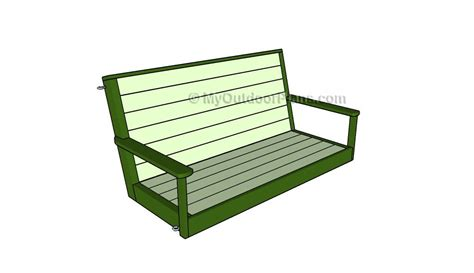 free plans for porch swing free porch swing plans myoutdoorplans free woodworking