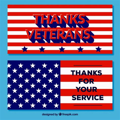 day banners free veterans day banners vector free