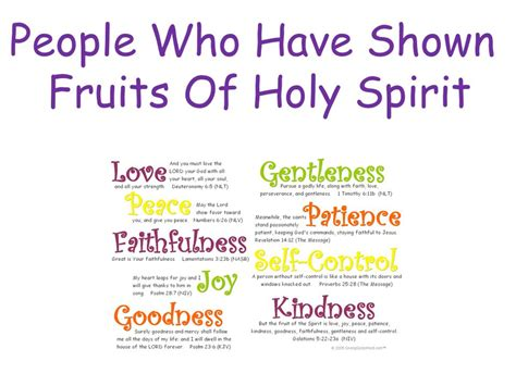 6 fruits of the holy spirit who shown fruits of holy spirit ppt