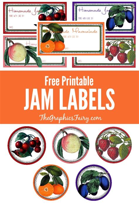 Printable Jam Labels | free printable jam labels the graphics fairy the