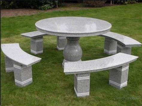 stone table and benches china granite furniture outdoor stone tables and benches
