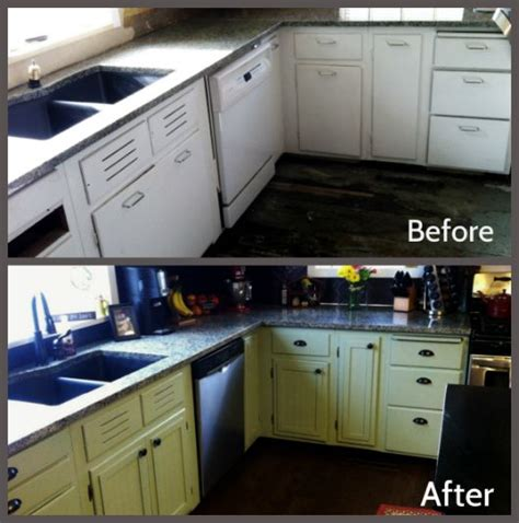 kitchen cabinets before and after living quarters