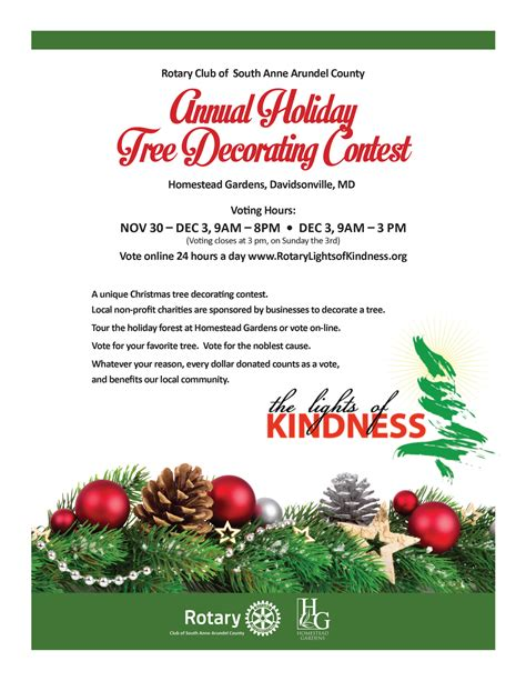 christmas contest voting flyer rotary club of south arundel county 4th annual lights of kindness eye on annapolis